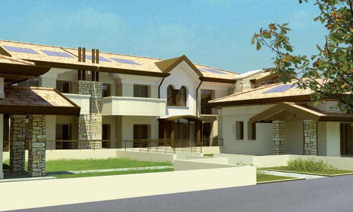 Costruzioni 2000 complesso al portico appartamenti in for Piani casa due storia avvolgente portico